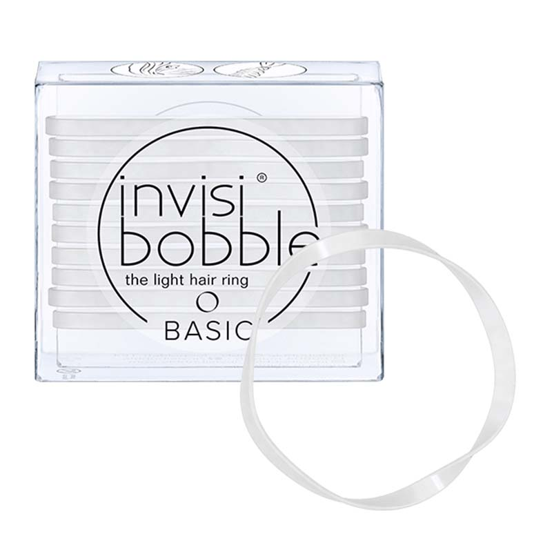 Elastice de par subtiri 10 buc The light hair ring Basic Invisibobble