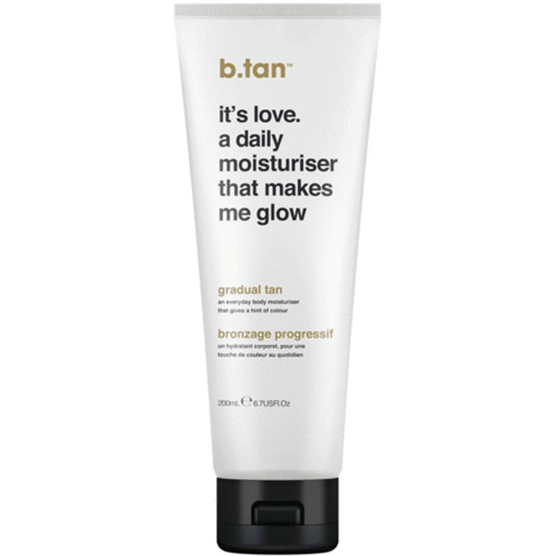 CREMA HIDRATANTA - IT S LOVE. A DAILY MOISTURISER THAT MAKES ME GLOW...EVERYDAY GLOW LOTION B.TAN