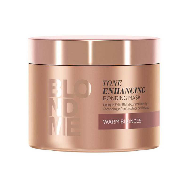 Masca pentru par blond cu reflexii calde Blondme Tone Enhancing Bonding Mask 200ml Schwarzkopf
