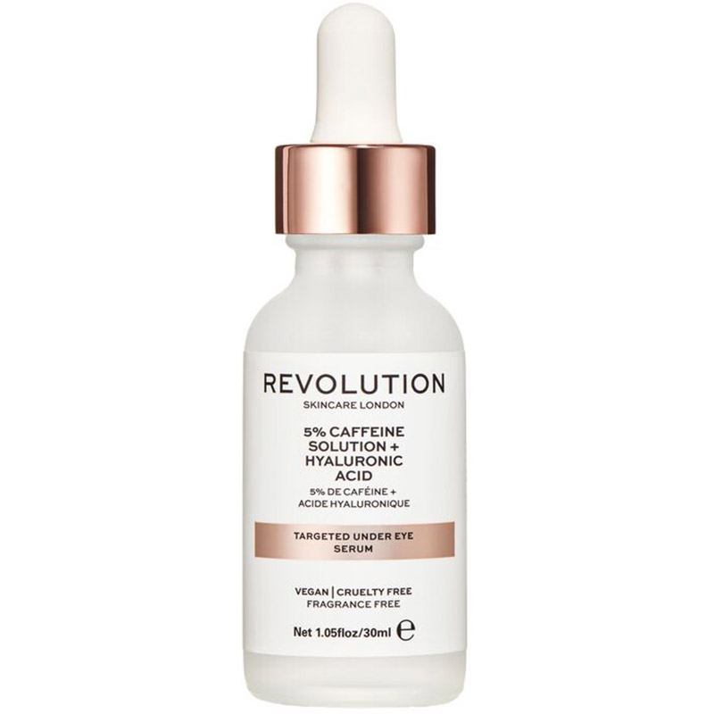 ser pentru zona ochilor - Targeted Under Eye Serum - 5% Caffeine Solution + Hyaluronic Acid Revolution SkinCare