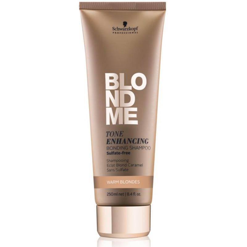 Sampon pentru par blond cu reflexii calde Blondme Tone Enhancing Bonding 250ml Schwarzkopf