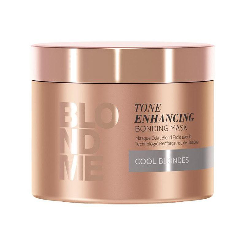 Masca pentru par blond cu reflexii reci Blondme Tone Enhancing Bonding Mask 200ml Schwarzkopf